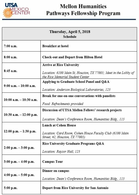 houston trip itinerary utsa mexico center